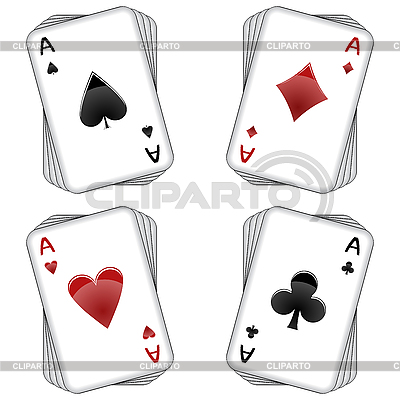 Aces playing cards | Stock Vector Graphics |ID 3038303