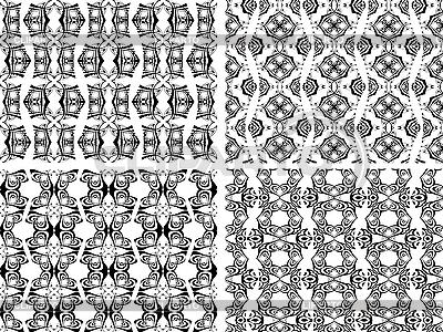 Schwarzweiße nahtlose Patterns | Stock Vektorgrafik |ID 3112386