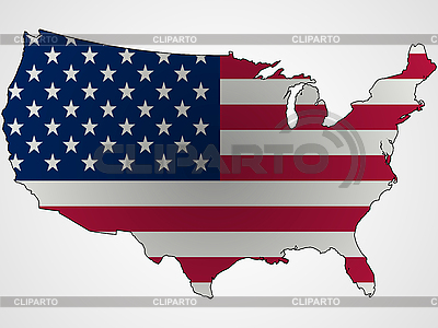 US flag as map | Stock Vector Graphics |ID 3132986