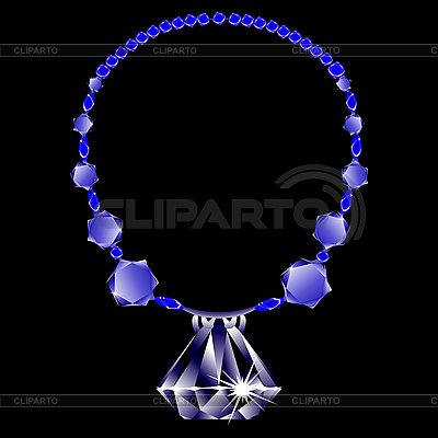 Diamanten-Collier | Stock Vektorgrafik |ID 3188890
