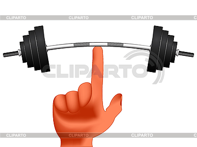 Finger holding weights | Stock Vector Graphics |ID 3188904