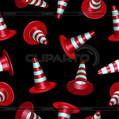 Traffic cones pattern | Stock Vector Graphics |ID 3189029