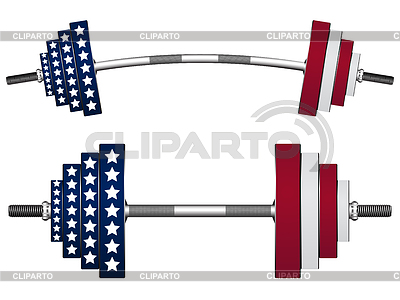 Us flag weights   Stock Vector Graphics  ID 3247145