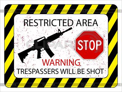 No trespassers allowed | Stock Vector Graphics |ID 3375352