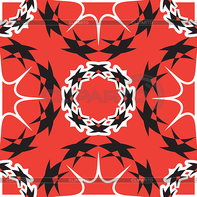 Elegant wavy red and black pattern | Stock Vector Graphics |ID 5482808