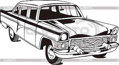 오래된 세단 자동차 | 벡터 클립 아트 |ID 3000766