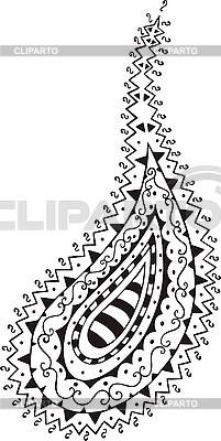 orientalisches paisley muster t rkisch gurke stock vektorgrafik cliparto. Black Bedroom Furniture Sets. Home Design Ideas