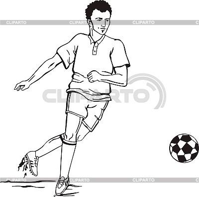 Piłkarz | Klipart wektorowy |ID 3000926