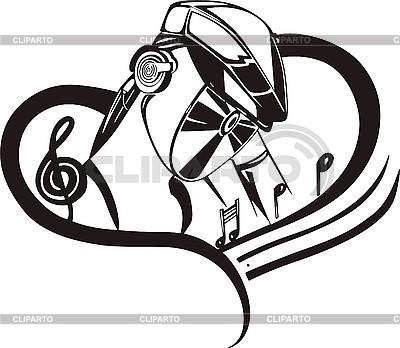 DJ i muzyka | Klipart wektorowy |ID 3000969