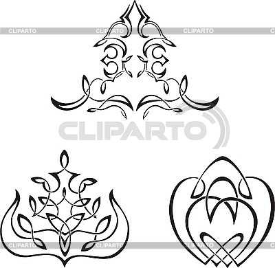 Декоративные виньетки | Векторный клипарт |ID 3000985