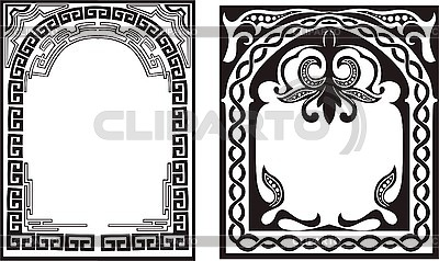 Ornamental frames with archs | Stock Vector Graphics |ID 3000993