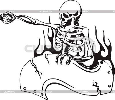 Szablon Skull | Klipart wektorowy |ID 3001230