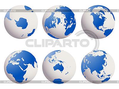 Earth globes set | Stock Vector Graphics |ID 3000049