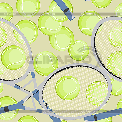 Tennis seamless background | Stock Vector Graphics |ID 3001896
