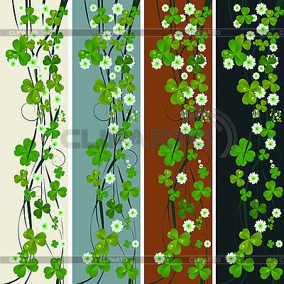 Vertikalische Muster mit Kleeblättern | Stock Vektorgrafik |ID 3001919