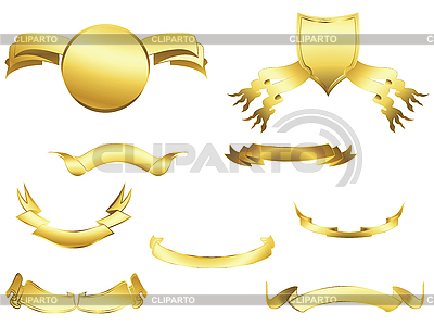 Heraldic shields and ribbons | Stock Vector Graphics |ID 3001959