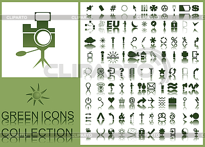 Grüne Symbole | Stock Vektorgrafik |ID 3002004