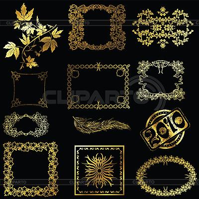 Gold design elements | Stock Vector Graphics |ID 3002038