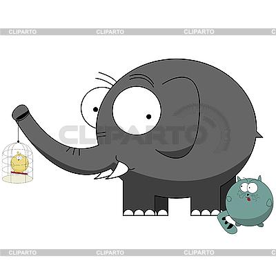 Funny cartoon characters   Stock Vector Graphics  ID 3002076