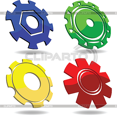 Iconos Gear | Ilustración vectorial de stock |ID 3002082