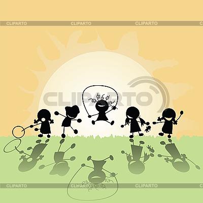 Glückliche Kinder | Stock Vektorgrafik |ID 3002108