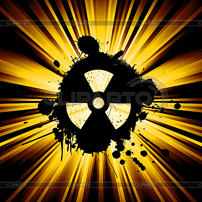 Grunge nuke sign   Klipart wektorowy  ID 3002116