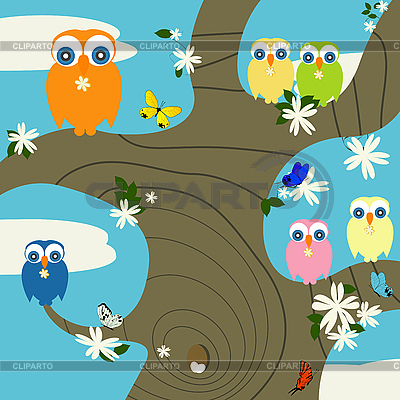 Owls nest | Stock Vector Graphics |ID 3002166