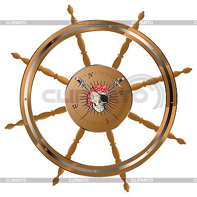 Пиратскиq руль | Векторный клипарт |ID 3002180