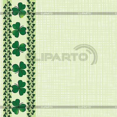 St Patrick border | Klipart wektorowy |ID 3002210