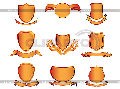 Shields and ribbons | Stock Vector Graphics |ID 3002242