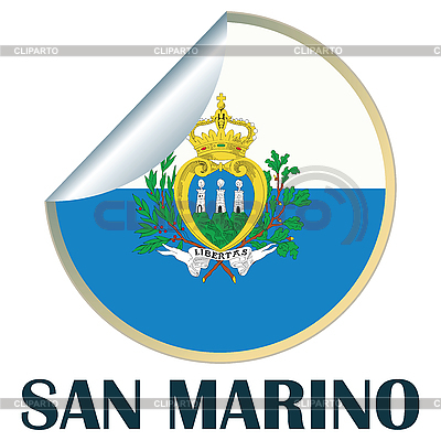 Flag, San Marino Sticker | High resolution stock illustration |ID 3002297