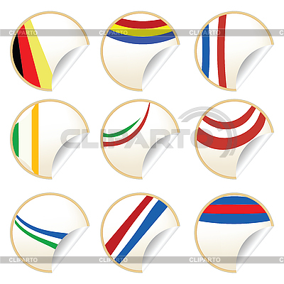 Stylilsh stickers    High resolution stock illustration  ID 3002315