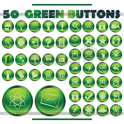 绿色按钮 | 向量插图 |ID 3002360