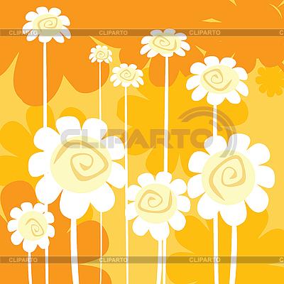 Art-Deco-Blumen Karte | Illustration mit hoher Auflösung |ID 3002402