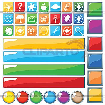 Web Buttons | Stockowa ilustracja wysokiej rozdzielczości |ID 3002412