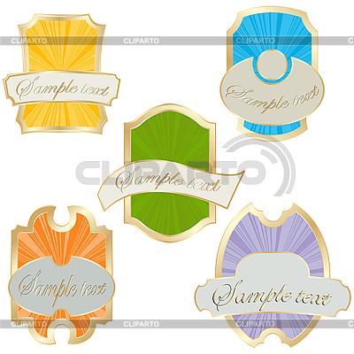 Commercial labels    High resolution stock illustration  ID 3002414