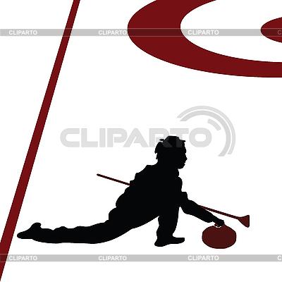 Curling-Spieler | Illustration mit hoher Auflösung |ID 3002415
