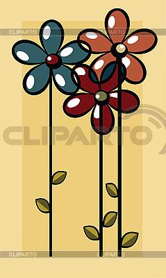 Art-Deco-Blumen-Karte | Illustration mit hoher Auflösung |ID 3002439