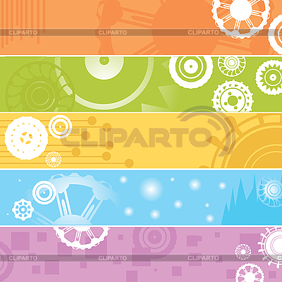 Web banners, gears | High resolution stock illustration |ID 3002497