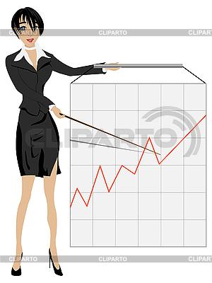 Kobieta biznesowych prezentacji | Klipart wektorowy |ID 3006028