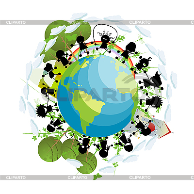 Children around the globe | Stock Vector Graphics |ID 3006032