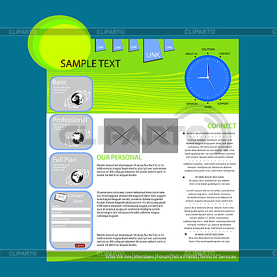 Web-Seiten-Layout | Stock Vektorgrafik |ID 3006036