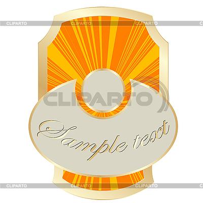 Złoty etykieta ramki | Klipart wektorowy |ID 3006058