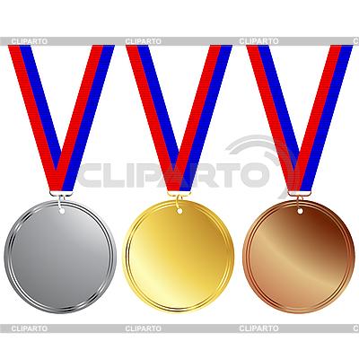 Set von Medaillen | Stock Vektorgrafik |ID 3006090
