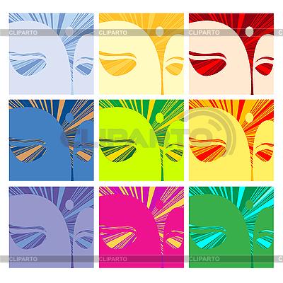 Gesichter des Buddha | Stock Vektorgrafik |ID 3006094