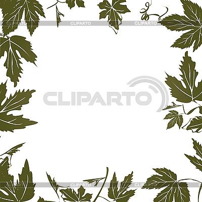 Rahmen mit Weinblätter | Stock Vektorgrafik |ID 3006124