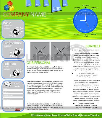 Układ strony internetowej | Klipart wektorowy |ID 3006134