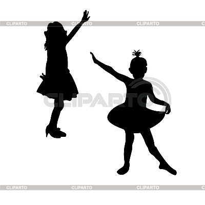Kleine Ballettänzerin-Silhouette | Stock Vektorgrafik |ID 3006144