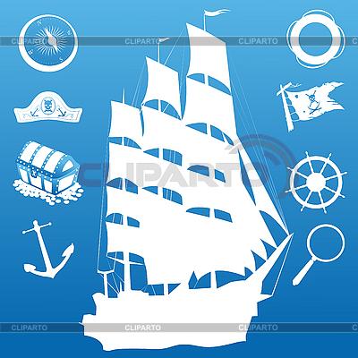 帆船符号   向量插图  ID 3006170