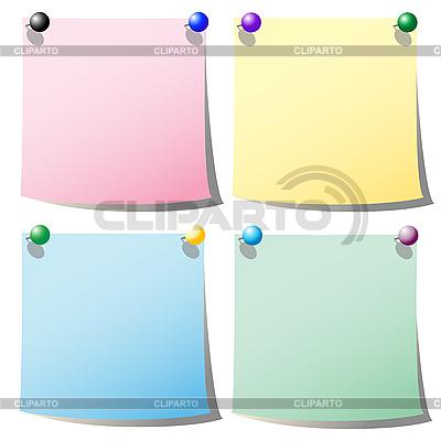 Papierchen für Hinweise | Stock Vektorgrafik |ID 3006226